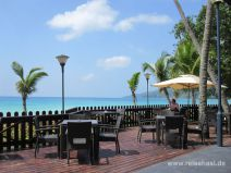 Terrasse vom Hotel Berjaya auf Mahé