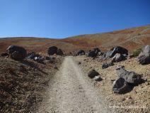 Weg durch die Lavabomben
