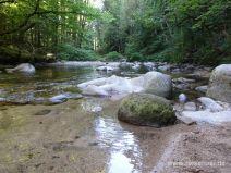 Flache Stelle am Fluss