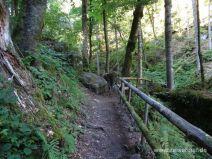 Weg am Großen Höllbachwasserfall