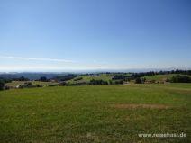 Panorama Aussicht bis zu den Alpen