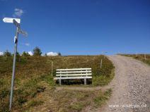 Gipfelkreuz im Sichtweite