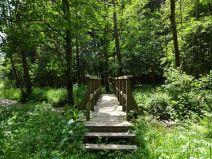 Schmale Holzbrücke