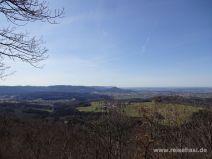 Aussicht mit Burg Hohenzollern