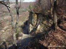 Steilwand am Bergrutsch
