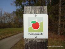 Wegmarkierung Firstwaldrunde