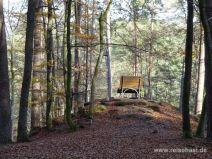 Liege mit Aussicht im Wald