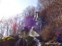 Wasserfall von Nahem