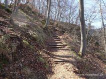 Treppen auf dem Weg